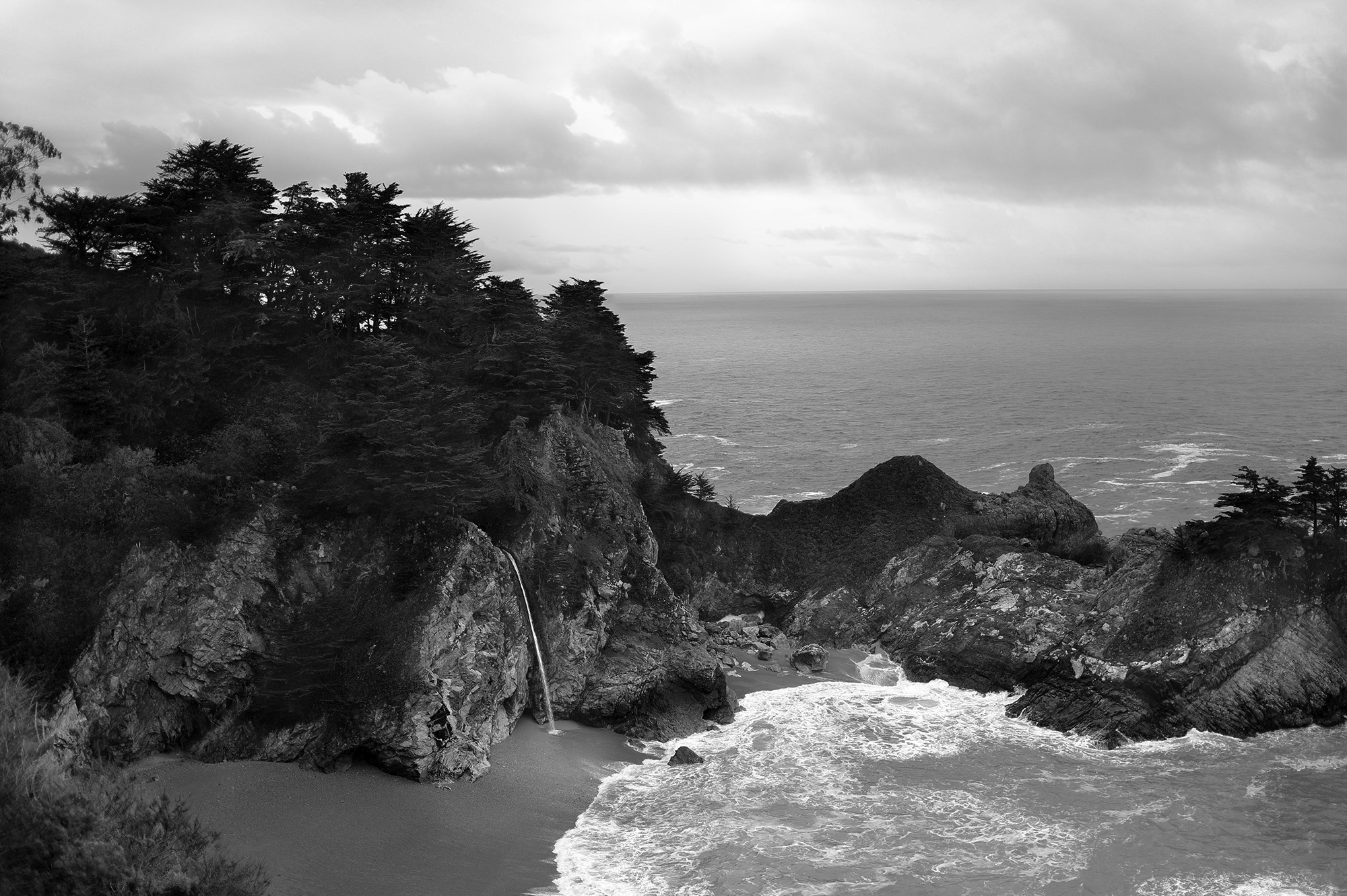 Big Sur Morning in Black and White by Rich J. Velasco
